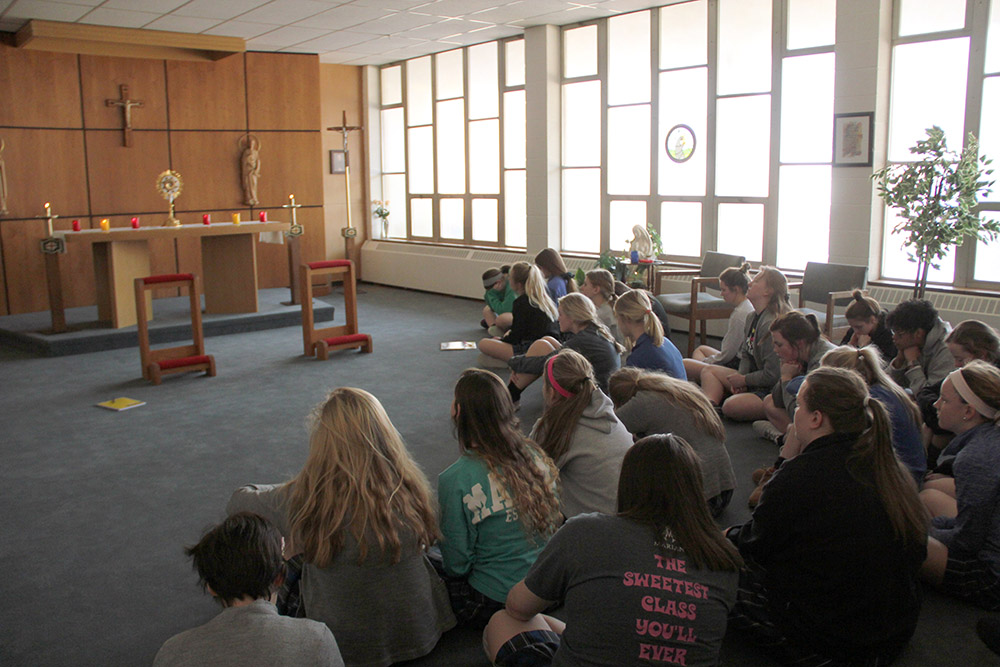 Servite schools unite through prayer to celebrate annual